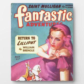 Giantess in einem Lavendel Kleid Fotoplatte
