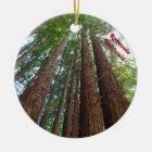 Giantic Rotholz-Baum-staatlicher Wald Kalifornien Keramik Ornament