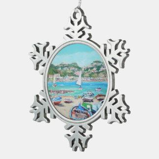 Giardini Naxos - Zinn-Schneeflocke-Verzierung Schneeflocken Zinn-Ornament