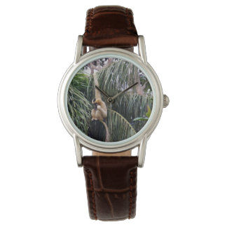 Gibbon, _Just_Hanging, _Ladys_Brown_Leather_Watch. Armbanduhr