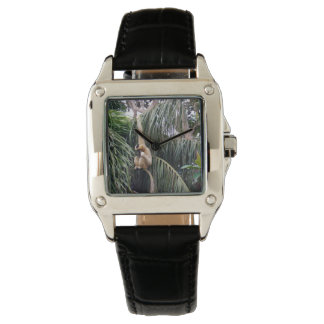 Gibbon, _Just_Hanging, _Ladys_Square_Black_Watch. Armbanduhr