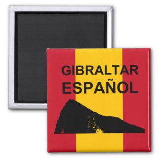 Gibraltar Español Quadratischer Magnet