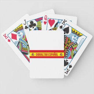Gibraltar Español - Spanisch Gibraltar Bicycle Spielkarten