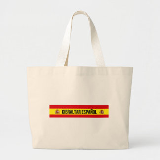 Gibraltar Español - Spanisch Gibraltar Jumbo Stoffbeutel