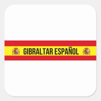 Gibraltar Español - Spanisch Gibraltar Quadratischer Aufkleber