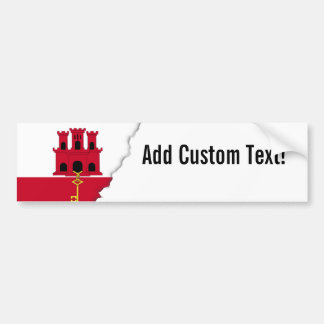 Gibraltar-Flagge Autoaufkleber