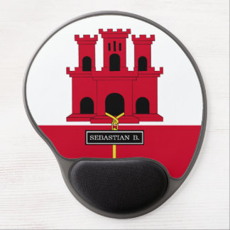 Gibraltar-Flagge Gel Mousepad
