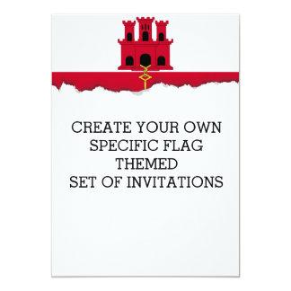 Gibraltar-Flagge Karte