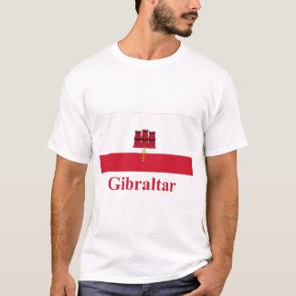 Gibraltar-Flagge mit Namen T-Shirt