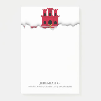 Gibraltar-Flagge Post-it Klebezettel