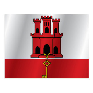 Gibraltar-Flagge Postkarte