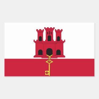 Gibraltar-Flagge Rechteckiger Aufkleber