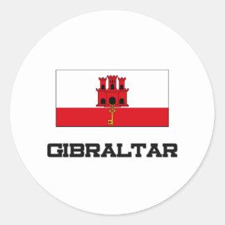 Gibraltar-Flagge Runder Aufkleber