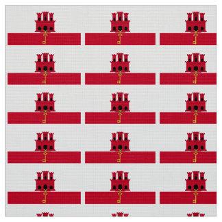 Gibraltar-Flagge Stoff