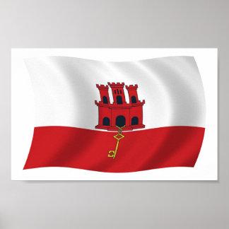 Gibraltar-Flaggen-Plakat-Druck Poster