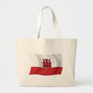 Gibraltar-Flaggen-Taschen-Tasche Jumbo Stoffbeutel