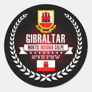 Gibraltar Runder Aufkleber