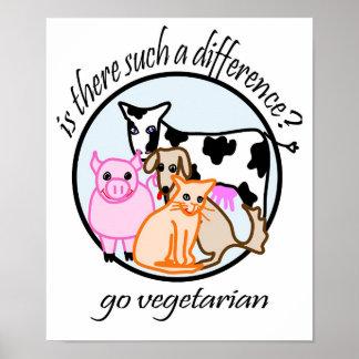 Gibt es solch ein Unterschied? Gehen Vegetarier Poster