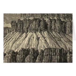 Giebel mit Berggipfeln Karte