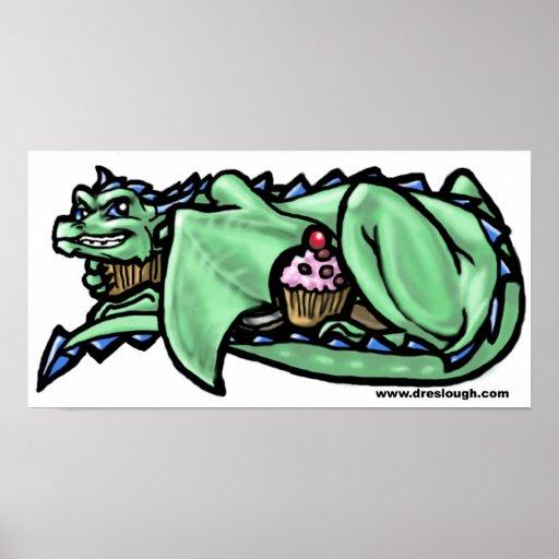 Gieriger Kuchen-Drache Plakat