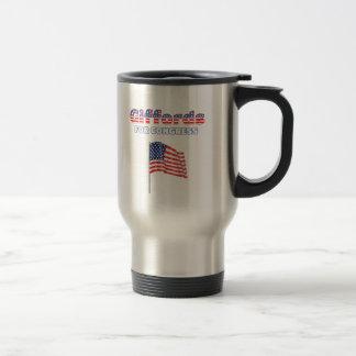 Giffords für Kongress-patriotische amerikanische Reisebecher