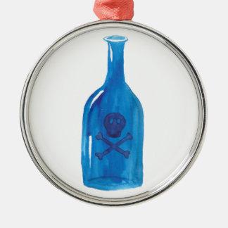 Gift-Flasche Silbernes Ornament