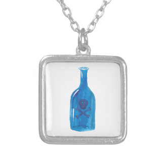 Gift-Flasche Versilberte Kette