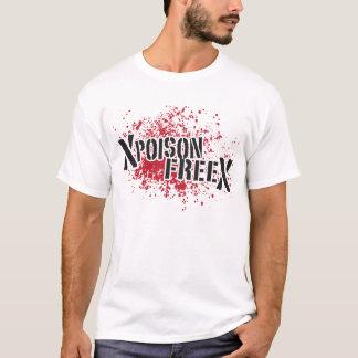 Gift-freies Schwarzes u. Rot T-Shirt