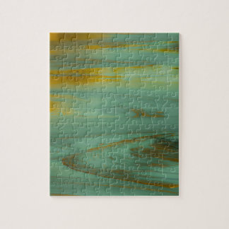 Gift-Nebenfluss, abstrakter Fotografie-Entwurf Puzzle