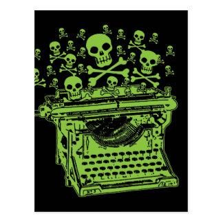 Gift-Schreibmaschine Postkarte