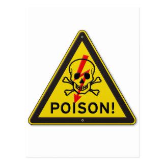Gift-warnendes Totenkopf mit gekreuzter Postkarte