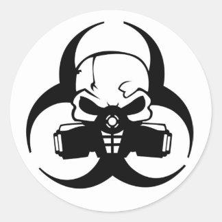 Giftig Runder Aufkleber
