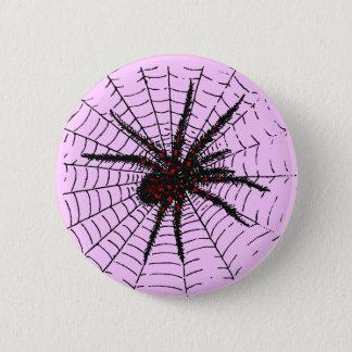 Giftige schwarze Spinnen-beängstigende Runder Button 5,1 Cm