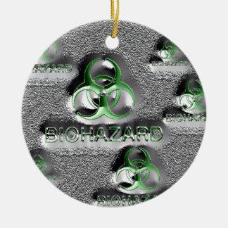 giftiges Grün des Keramik Ornament