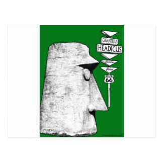 Giganticus Headicus Weg 66 Antares Straßengrün Postkarte