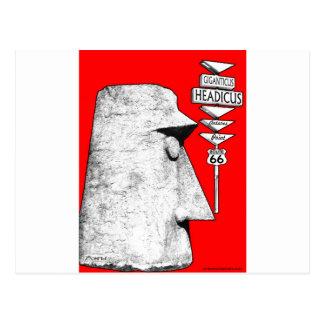 Giganticus Headicus Weg 66 Antares Verkehrsschild Postkarte