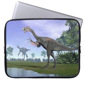 Gigantoraptor Dinosaurier in der Natur - 3D Laptop Sleeve