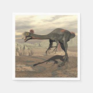 Gigantoraptor Dinosaurier in der Wüste - 3D Papierserviette