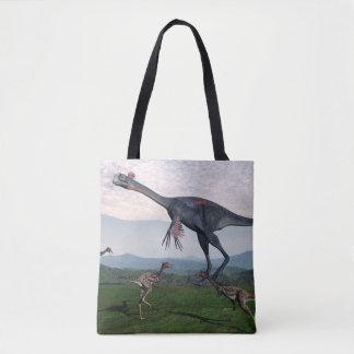 Gigantoraptor und kleine mononykus Dinosaurier - Tasche