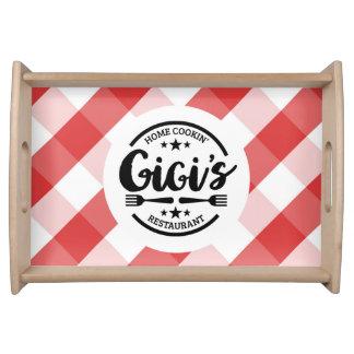 Gigis Zuhause Cookin' Restaurant Serviertablett