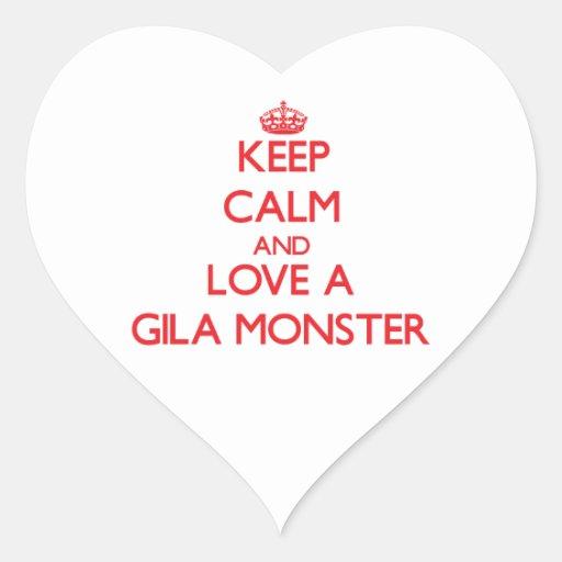 Gila-Krustenechse Herzaufkleber