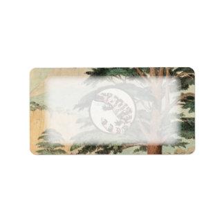 Gila-Krustenechse in der natürlicher Adress Aufkleber