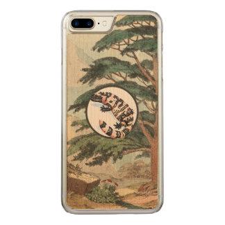 Gila-Krustenechse in der natürlicher Carved iPhone 7 Plus Hülle
