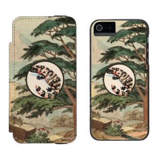 Gila-Krustenechse in der natürlicher Incipio Watson™ iPhone 5 Geldbörsen Hülle