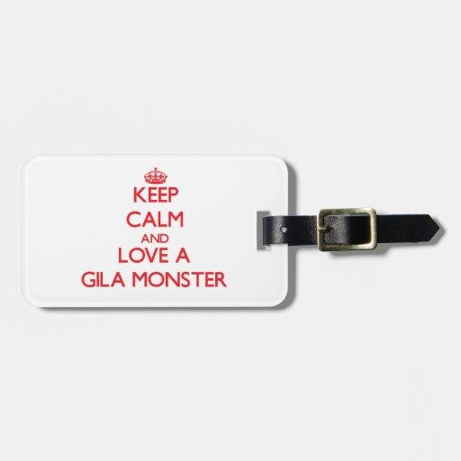 Gila-Krustenechse Gepäckanhänger