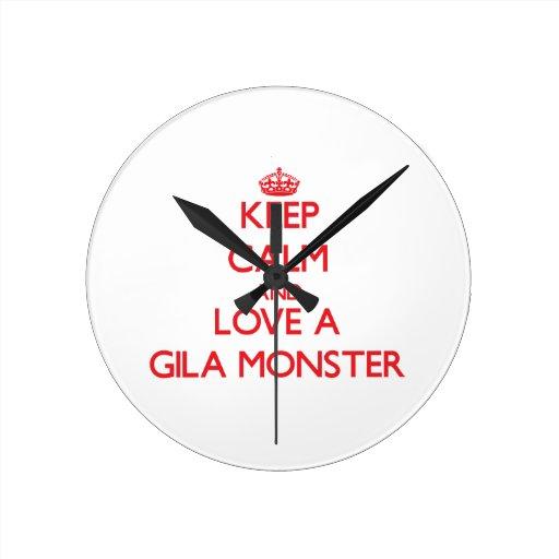 Gila-Krustenechse Uhr