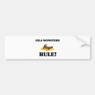 GILA-KRUSTENECHSEN Regel! Autoaufkleber