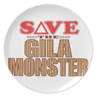 Gila-Monster retten Flacher Teller