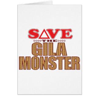 Gila-Monster retten Grußkarte