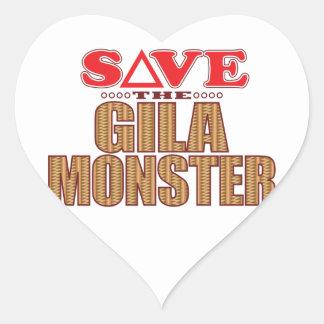 Gila-Monster retten Herz-Aufkleber
